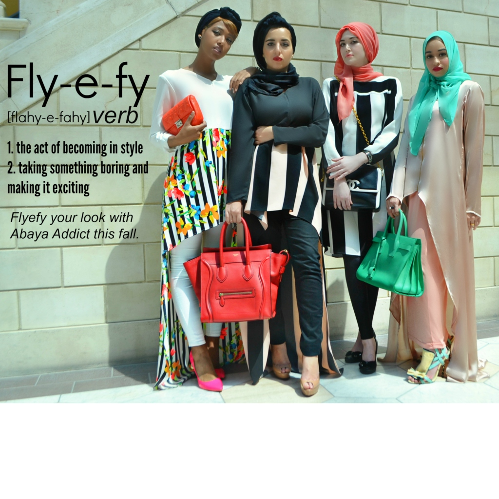 The Abaya Addict Clique rocking the Fall/Winter Collection 2015.