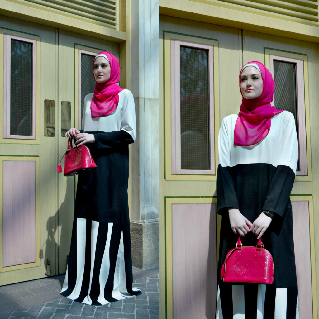 Stripes take on new meaning this season with Abaya Addict