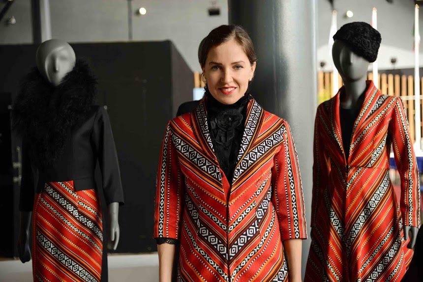 Designer Katya showcases her Sadou Collection in Milano Expo 2015.